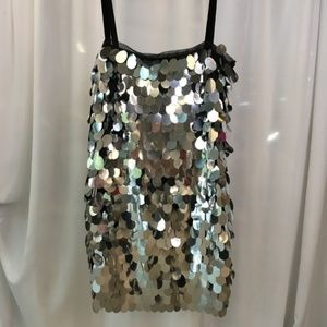 Milly Sequin Shift Party Dress